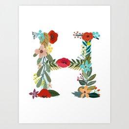 Monogram Letter H Art Print