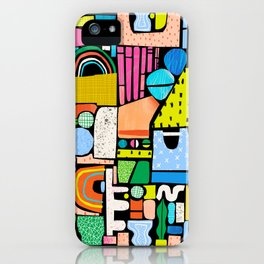 Color Block Collage iPhone Case