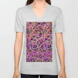 Informel Art Abstract G74 Unisex V-Neck