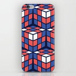 cascade - red/white/blue iPhone Skin