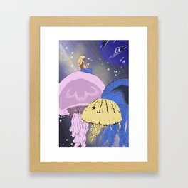 space jellys Framed Art Print