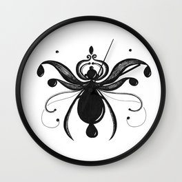 Wispy Bug Drops Wall Clock