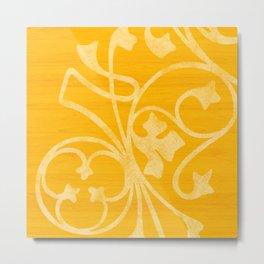 Rejas Yellow Metal Print