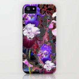 Southwest-western Style PURPLE IRIS GARDEN iPhone Case