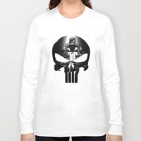 punisher Long Sleeve T-shirts featuring The Punisher by dTydlacka