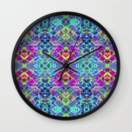 Fractal Art Stained Glass G304 Wall Clock