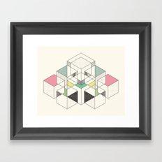 GEOMETRIC SPACE Framed Art Print