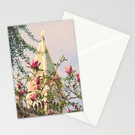 Magnolia Campanile Spring Venice Italy Travel Photography Stationery Cards