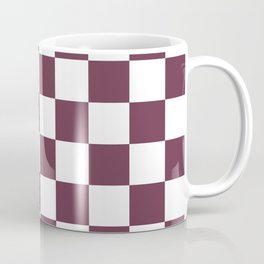 Checkered Pattern: Burgundy Red Coffee Mug