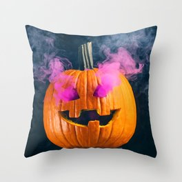 Smokey Jack o' Lantern Throw Pillow