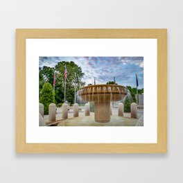 Veterans Wall of Honor Memorial - Bella Vista Arkansas Framed Art Print