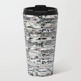 Removing Filters (P/D3 Glitch Collage Studies) Metal Travel Mug