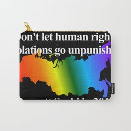 Boycott Sochi - Rainbow Flag Gradient Carry-All Pouch