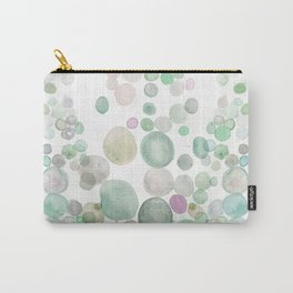 Green Abstract Watercolour Sea Carry-All Pouch
