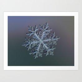 Real snowflake - Hyperion dark Art Print