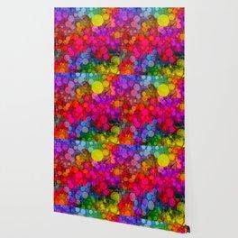 Rainbow Bubbles Abstract Design Wallpaper