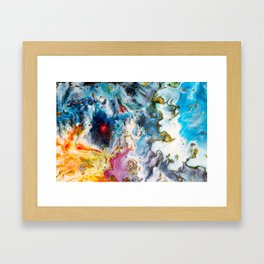 Colorful Watercolor Painting Framed Art Print