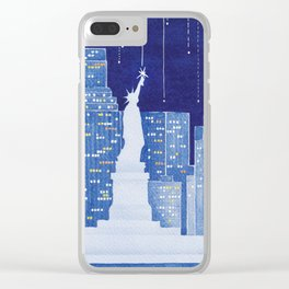 New York, Statue of Liberty Clear iPhone Case