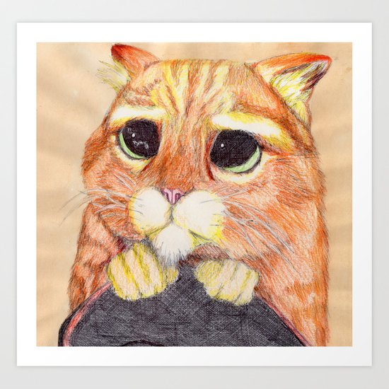 Puss In Boots. Art Print