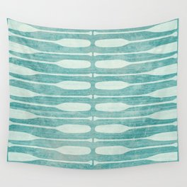 Vintage Coast Boat Paddles Wall Tapestry