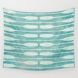 Vintage Coast Boat Paddles Wall Tapestry