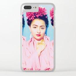 Three Pink Fridas Clear iPhone Case