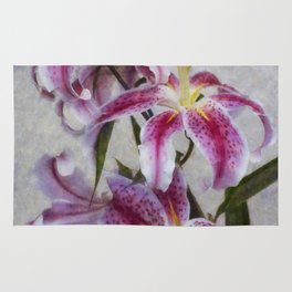 Pink Lillies Rug