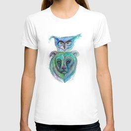 Owl and Bear Totem T-shirt