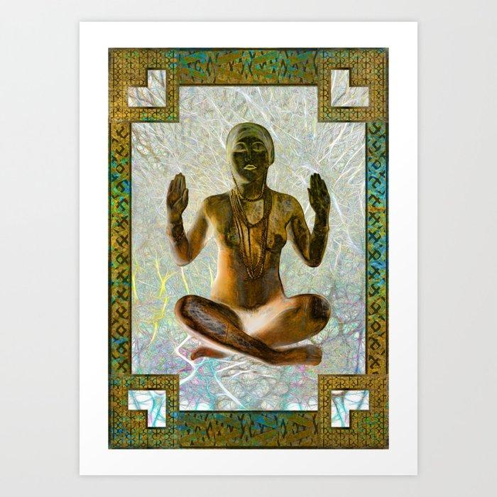 Golden Trance Art Print