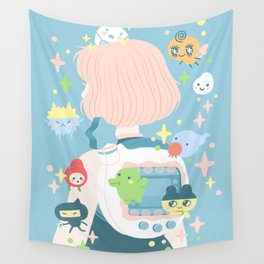 tamagotchi fever Wall Tapestry