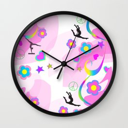 Retro Gymnastics Wall Clock