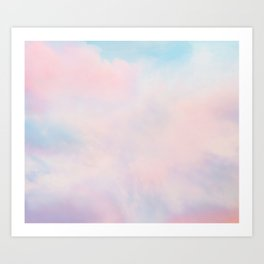 cotton candy dreaming Art Print
