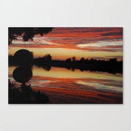 Sunset Reflection Watermelon Canvas Print