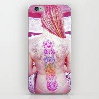 chakra iPhone & iPod Skins featuring Chakra Path by Webe Love
