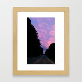 night sky of pink and blue Framed Art Print