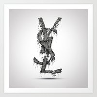 ysl Art Prints featuring YSL by Paul Trubas