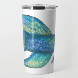 Betta fish blue green Travel Mug