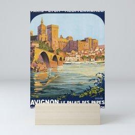 retro Avignon Mini Art Print