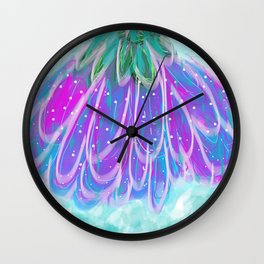 Umbrella Flower Wall Clock