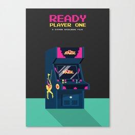 Ready Player One Minimalist Poster - 80s Arcade Canvas Print