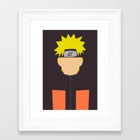 naruto Framed Art Prints featuring Naruto Shippuden - Naruto by TracingHorses