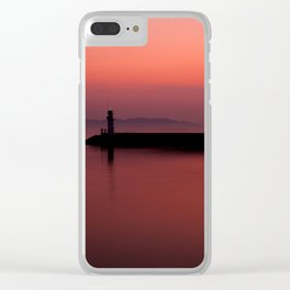 Slow City Sunset Clear iPhone Case