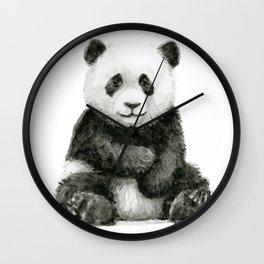 Panda Baby Watercolor Wall Clock