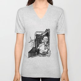 A Tree Growing Up In Brooklyn. Unisex V-Neck