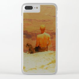 A long way down Clear iPhone Case