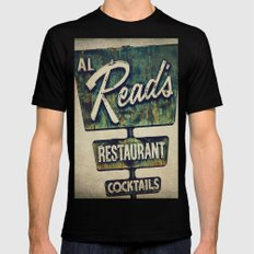 Al Read's Restaurant Vintage Sign LARGE Black Mens Fitted Tee