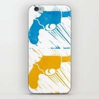 guns iPhone & iPod Skins featuring Guns by Chloe Bromfield