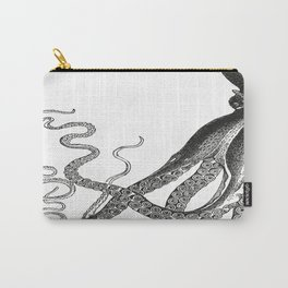 Half Octopus (Left Side) | Vintage Octopus | Diptych | Black and White | Carry-All Pouch