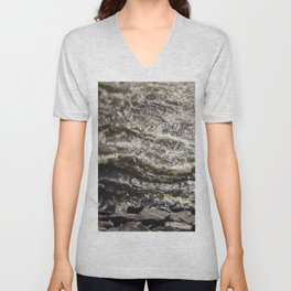 Torrent river Unisex V-Neck