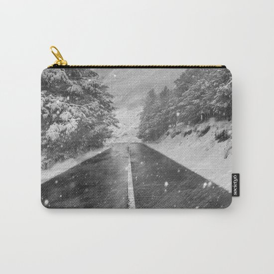 """""""Snowstorm in the road"""" At the mountains Carry-All Pouch"""